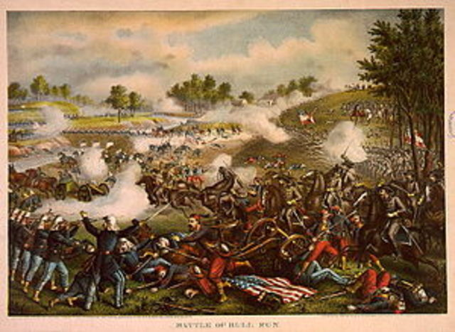 1st Battle of Bull Run at Manasas Virginia