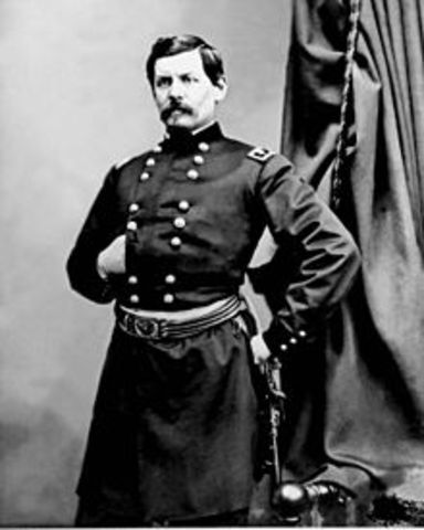 General George B. McClellen takes command of the Union's Army of the Potomac