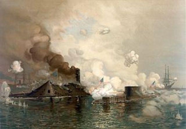 "Battle of Hampton Roads - 1st Battle of ""Ironclad"" Warships"