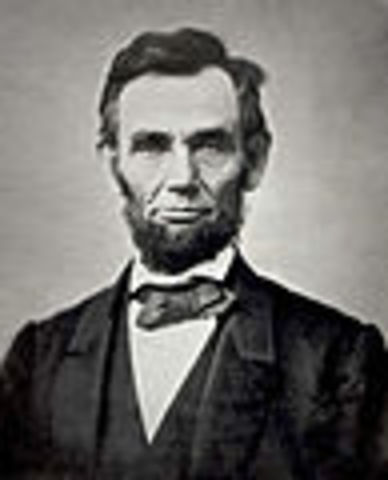 Abraham Lincoln is re-elected President of the United States