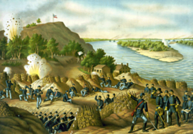 General Ulysses S. Grant lays seige to the City of Vickburg, Mississippi, the City surrendurs on July 4, 1963