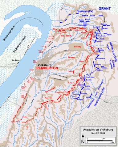 Vicksburg Surrendurs to Ulysses S. Grant