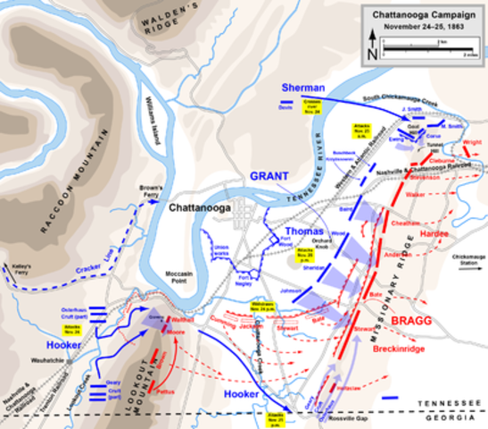The Battle of Chattanooga - Grant lifts the Siege of Chattanooga