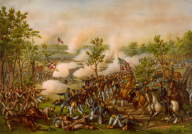 """Battle/Siege of Atlanta - Union Gen. Wm. T. Sherman besieges the City of Atlanta, eventually captures it, burns it to the ground and embarks on his """"March to the Sea"""", eventually capturing the Port of Savanah"""