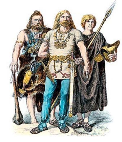 Переселение германских племена англов, саксов и ютов на Британские острова