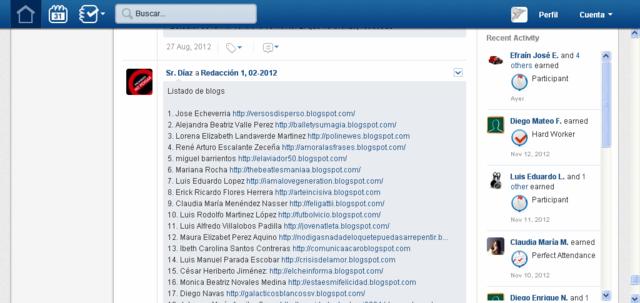 Listado de blogs