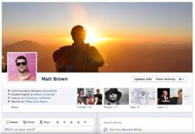 New profile format, Facebook Timeline, is release