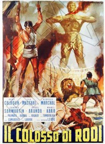 """Sergio Leone diretto """"The Colossus of Rhodes"""", """"Il Colosso di Rodi."""""""