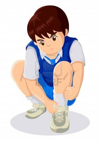 Je appris comment je veut attacher mes souliers