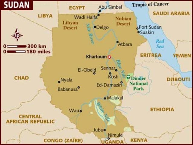 Map inside Sudan 1956