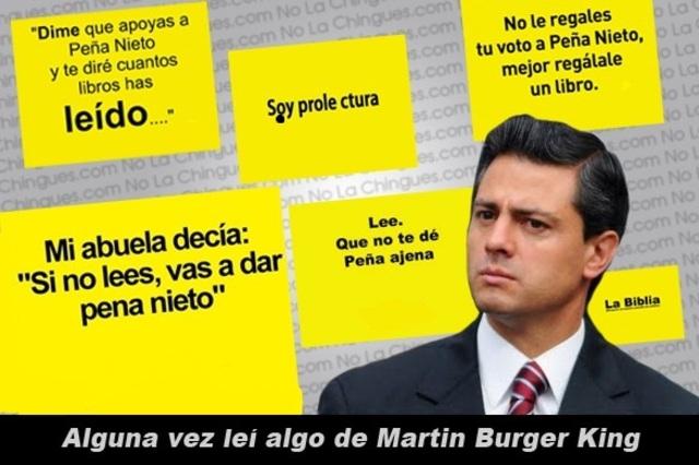 Enrique Peña Nieto y sus libros.