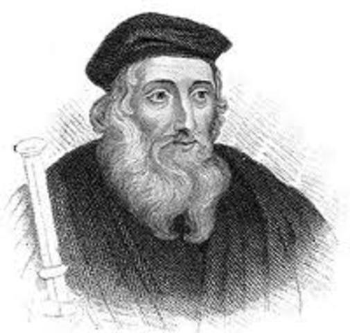 John Wycliffe is born