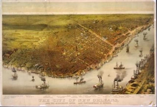 Founding of New Orleans, by the French
