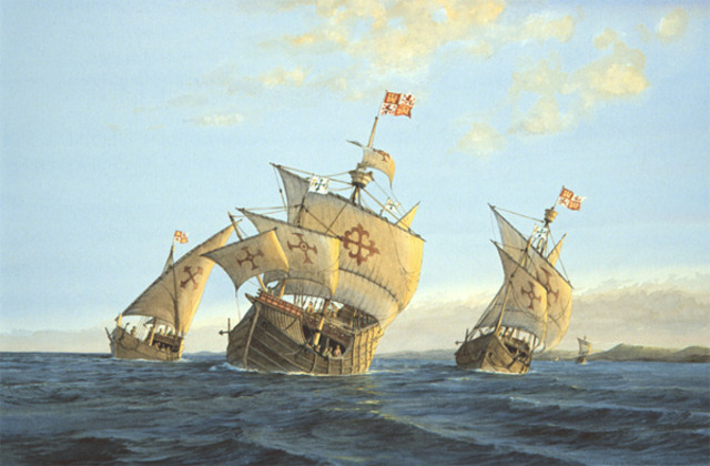 Columbus Sets Sail for New World