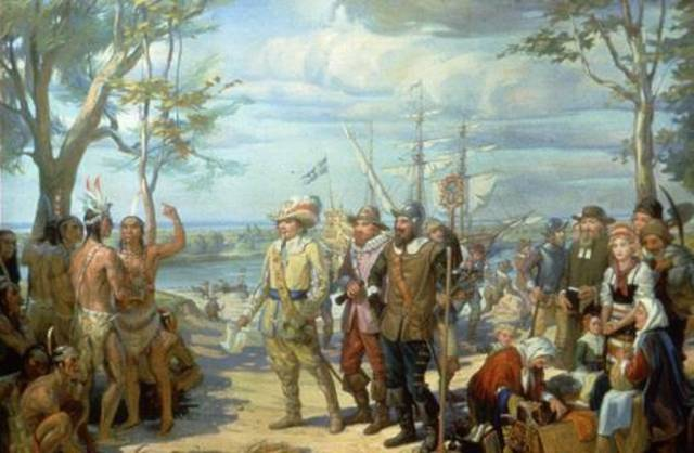 Peter Minuit buys island of Manhattan from the Indians.