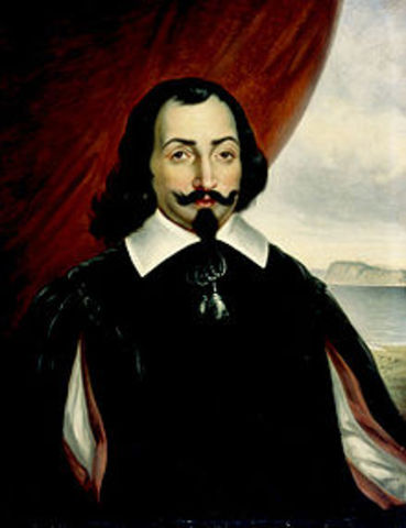 Samuel de Champlain discovers Lake Champlain.