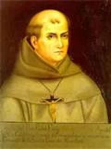 Father Junipero Serra founds nine missions in southwest North America.