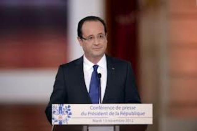 Première conférence de presse pour François Hollande: 400 journalistes présents