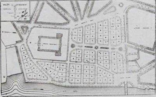 Plans for an urban square