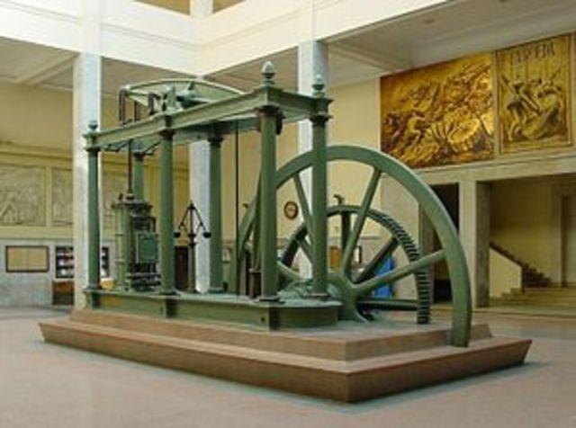 Watt builds steam engine