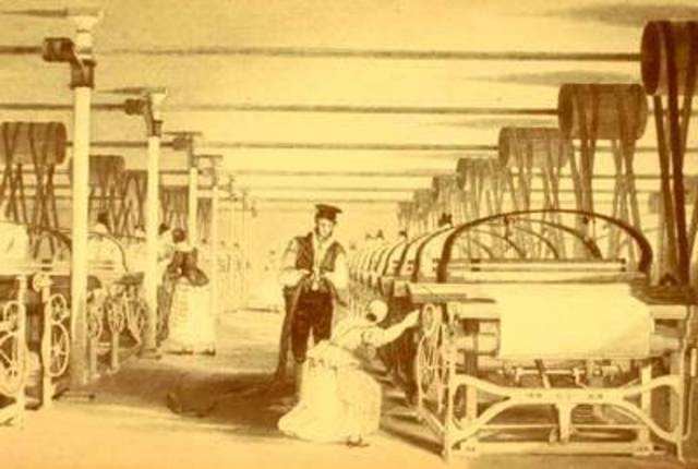 Cartwright builds a power loom