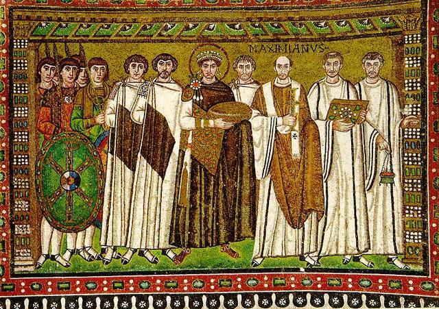 Justinian and Attendants (San Vitale)