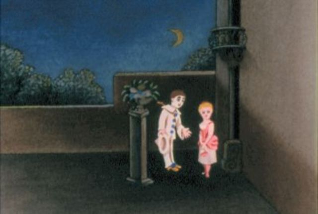 Projected Animation - Pauvre Pierrot