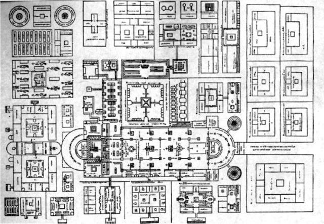Plan of St. Gall Monestary (St. Gall, Switzerland)