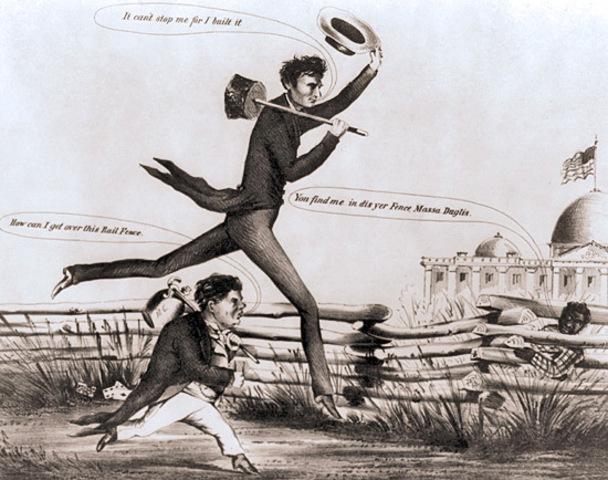 Democrats split in 1860