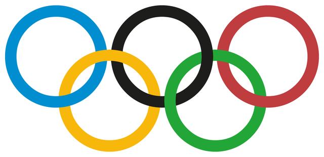 Premier drapeau olympique
