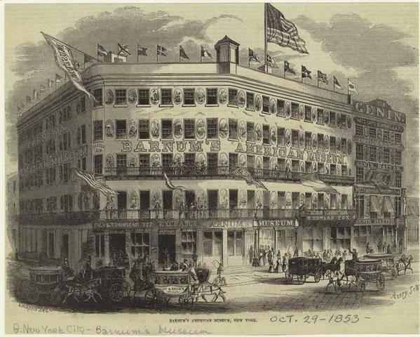 Barnum bouwt zijn American Museum in New York