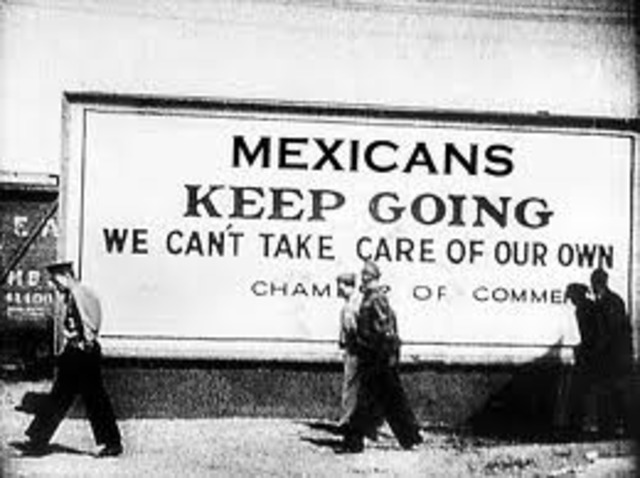 Deportation of Mexican Americans during the Great Depression