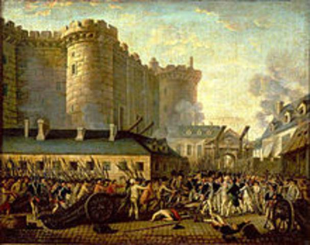 Bastille Invaded; French Revolution begins