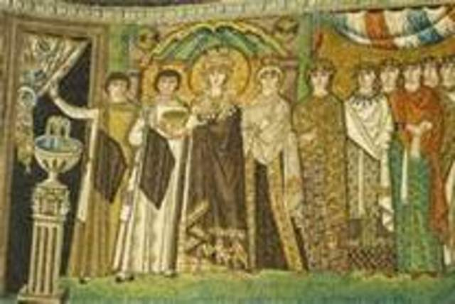 Theodora and attendants