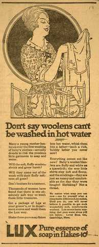 1900's laundry ad