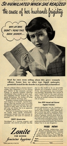 1930's Frigidityis a Women's Fault!