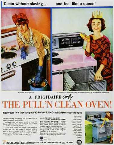 1940's Because men never cook and Women never work