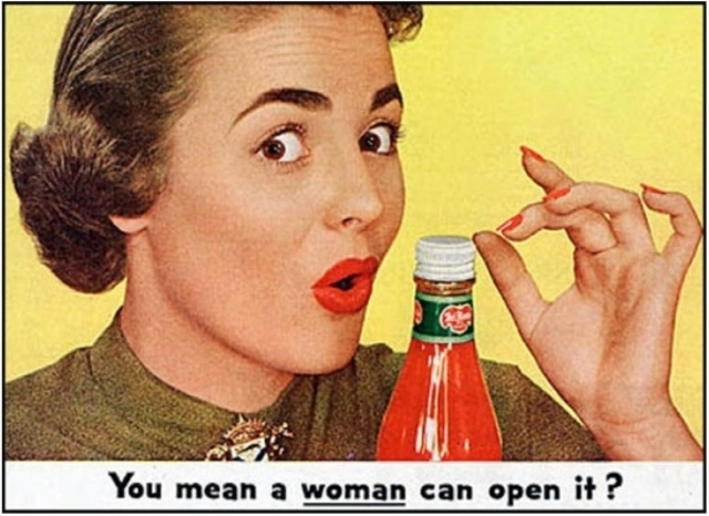 1950's To dumb to open a bottle?