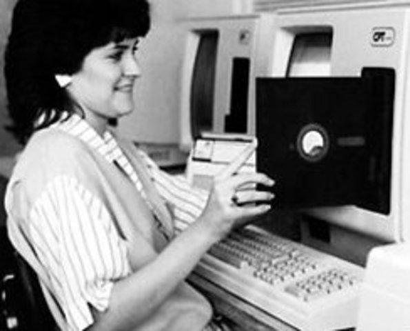 IBM creates the first floppy disk