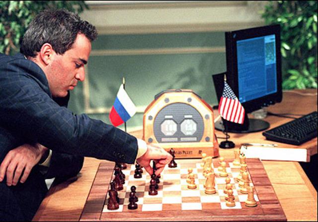 IBM machine Deep Blue won the second six-game match against world champion Garry Kasparov