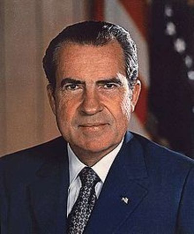 Richard Nixon elected 37th President of the United States