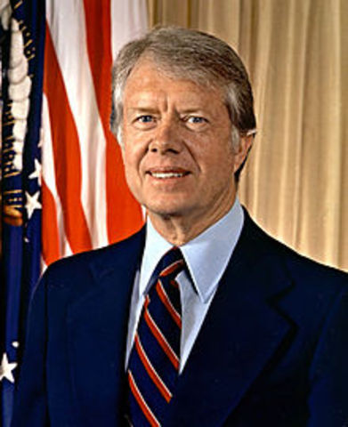 Jimmy Carter elected 39th President of the United States