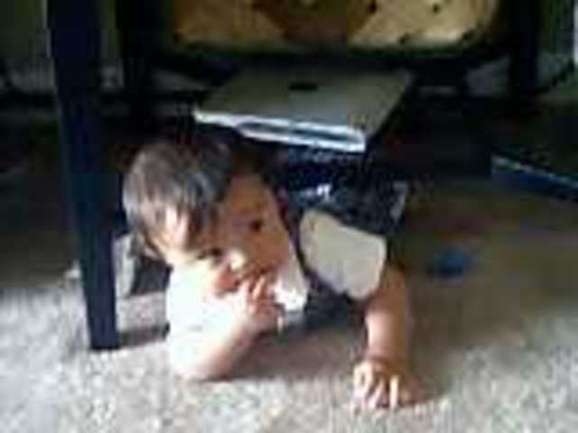 Mason Starting to Crawl