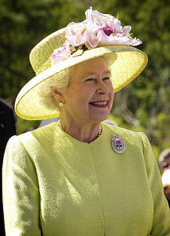Queen Elizabeth II assumes the throne