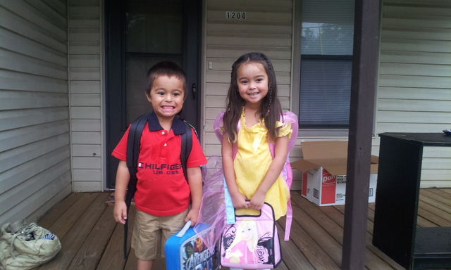 First day of school at Beaumont