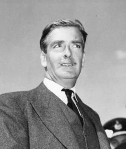 Anthony Eden elected Prime Minister of England