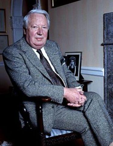 Edward Heath elected Prime Minister of England