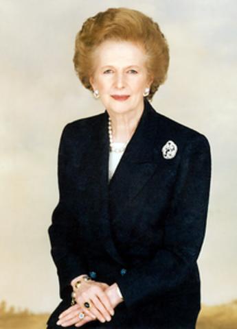 Margaret Thatcher elected Prime Minister of England