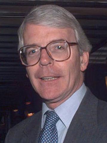 John Major elected Prime Minister of England