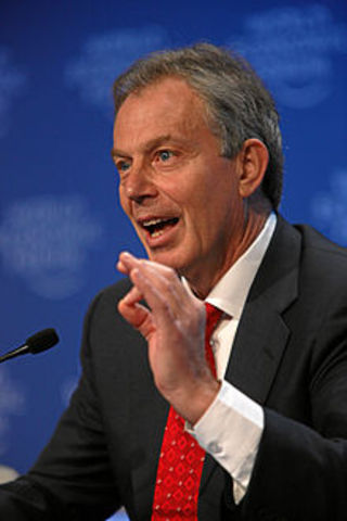 Tony Blair elected Prime Minister of England